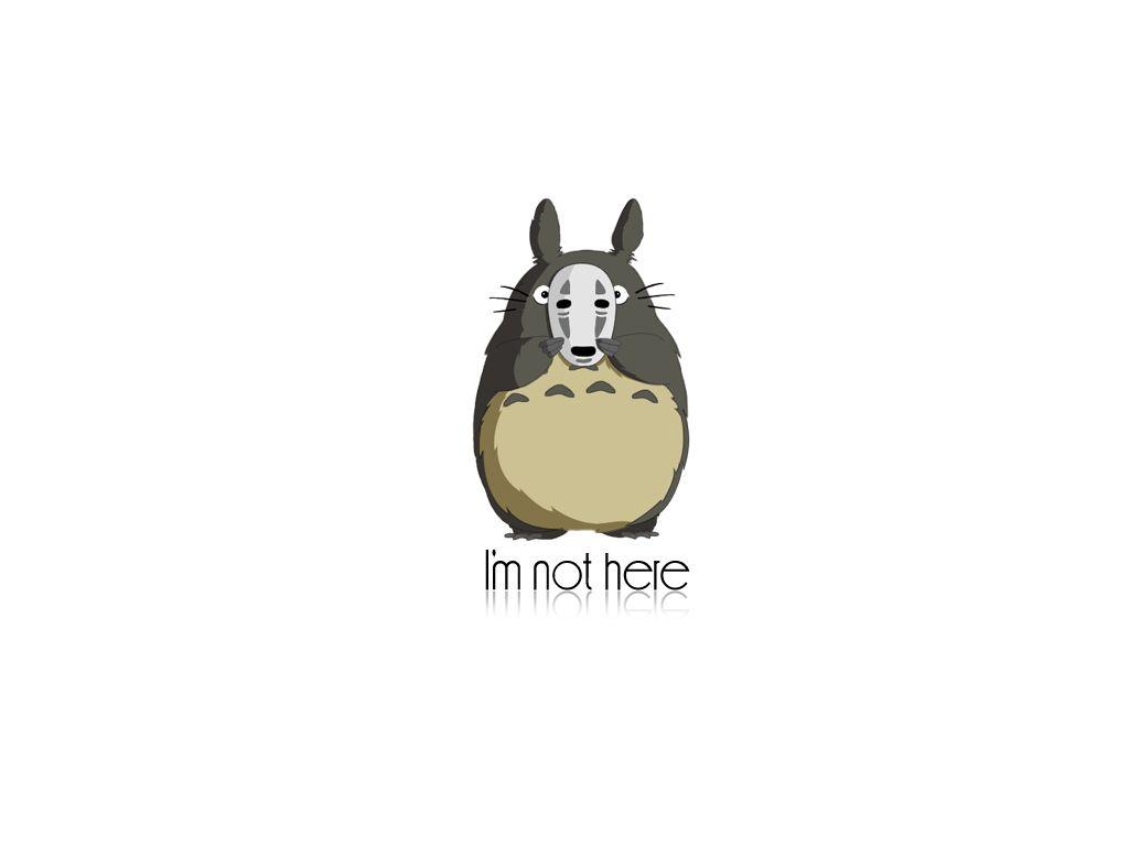 Wallpaper iphone totoro - Totoro X No Face