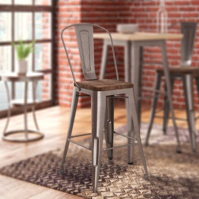 distressed metal bar stool with back bar stool stools and bar