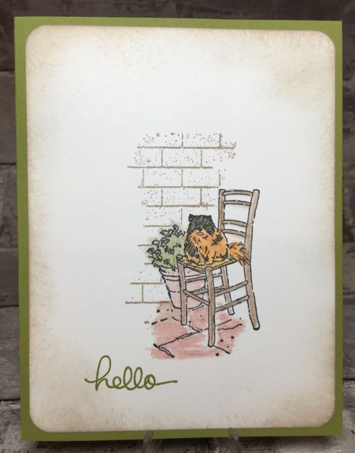 Hello Kitty, Mediterranean Moments stamp set, 143188-wood; 143191-clear, masking technique, watercolor pencils, endless birthday wishes stamp set, ghoulish grunge stamp set