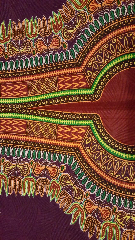 African Print Dashiki Java Fabric