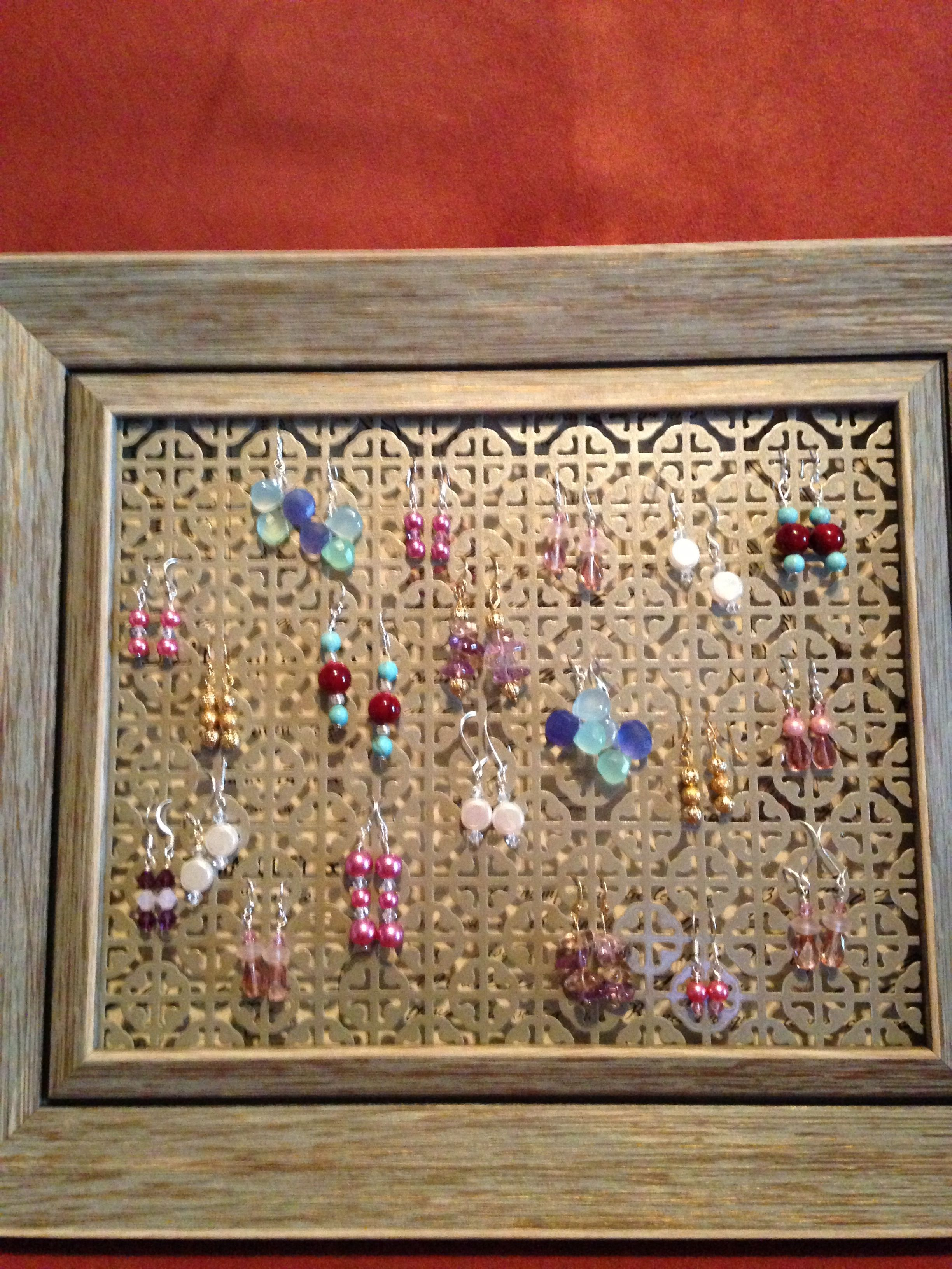 Earringsjewelry Organizer Frame From Home Goods Remove Glass