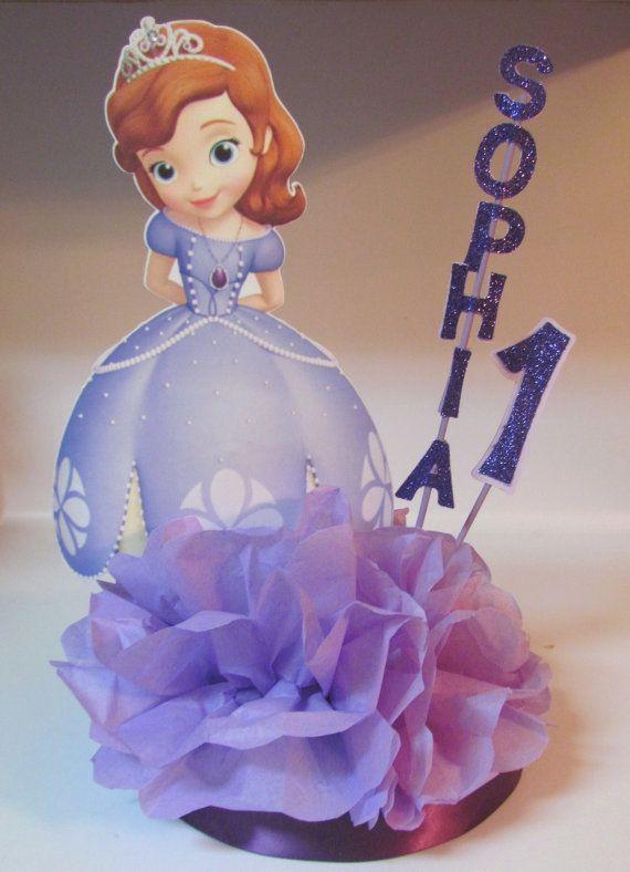 Sofia First Centerpiece Disney Princess by KhloesKustomKreation, $15.00 - Sofia First Centerpiece Disney Princess By KhloesKustomKreation