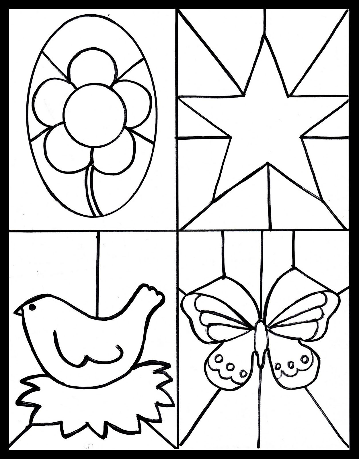 Kid s craft stained glass free printable