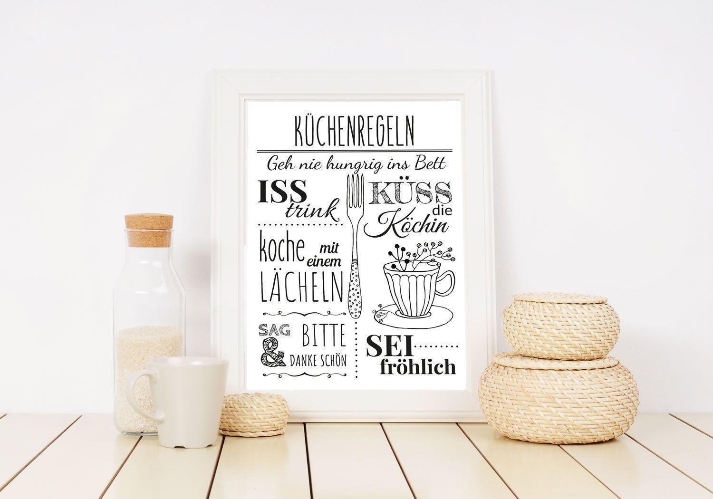 Küchenregeln Poster instant download. Kitchen rules GERMAN #kitchenrules Küchenregeln Poster instant download. Kitchen rules GERMAN. #kitchenrules