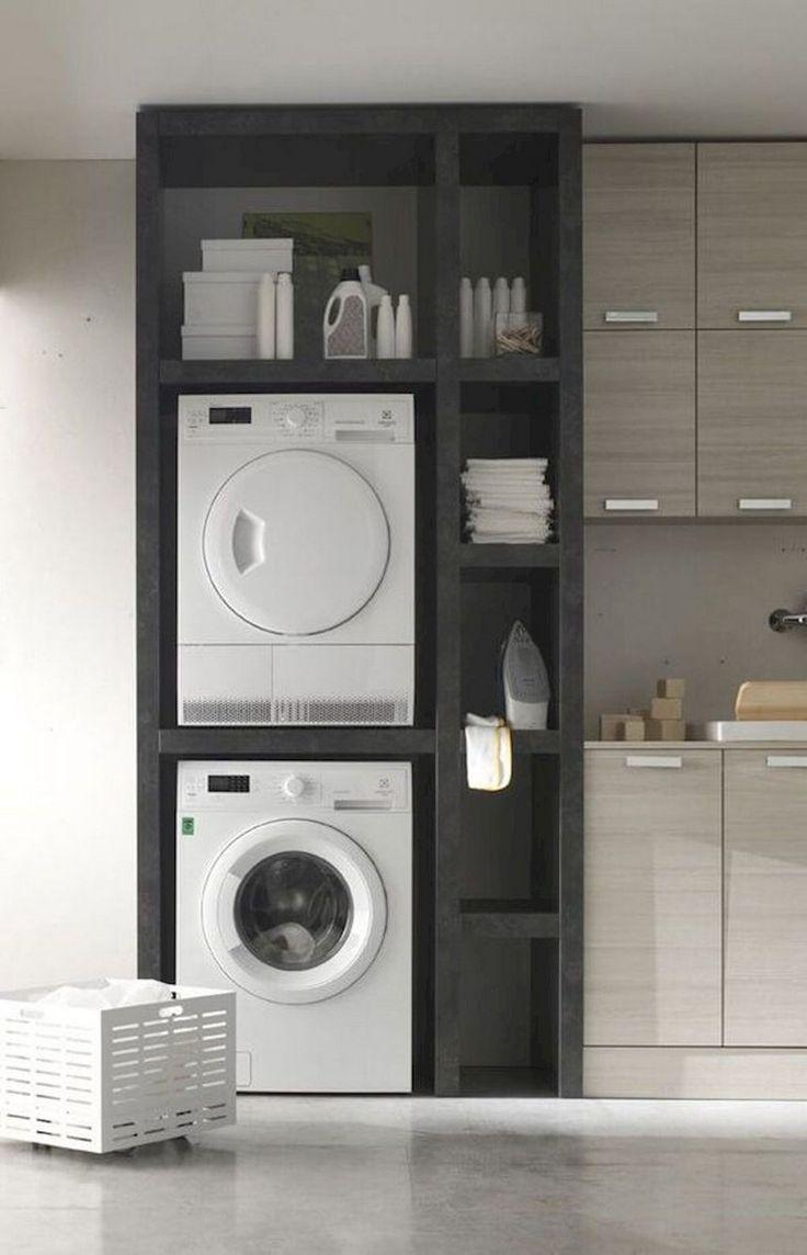 68+ superbes idées d'étagères de rangement de buanderie bricolage – #DIY #Ideas #laundry #room …