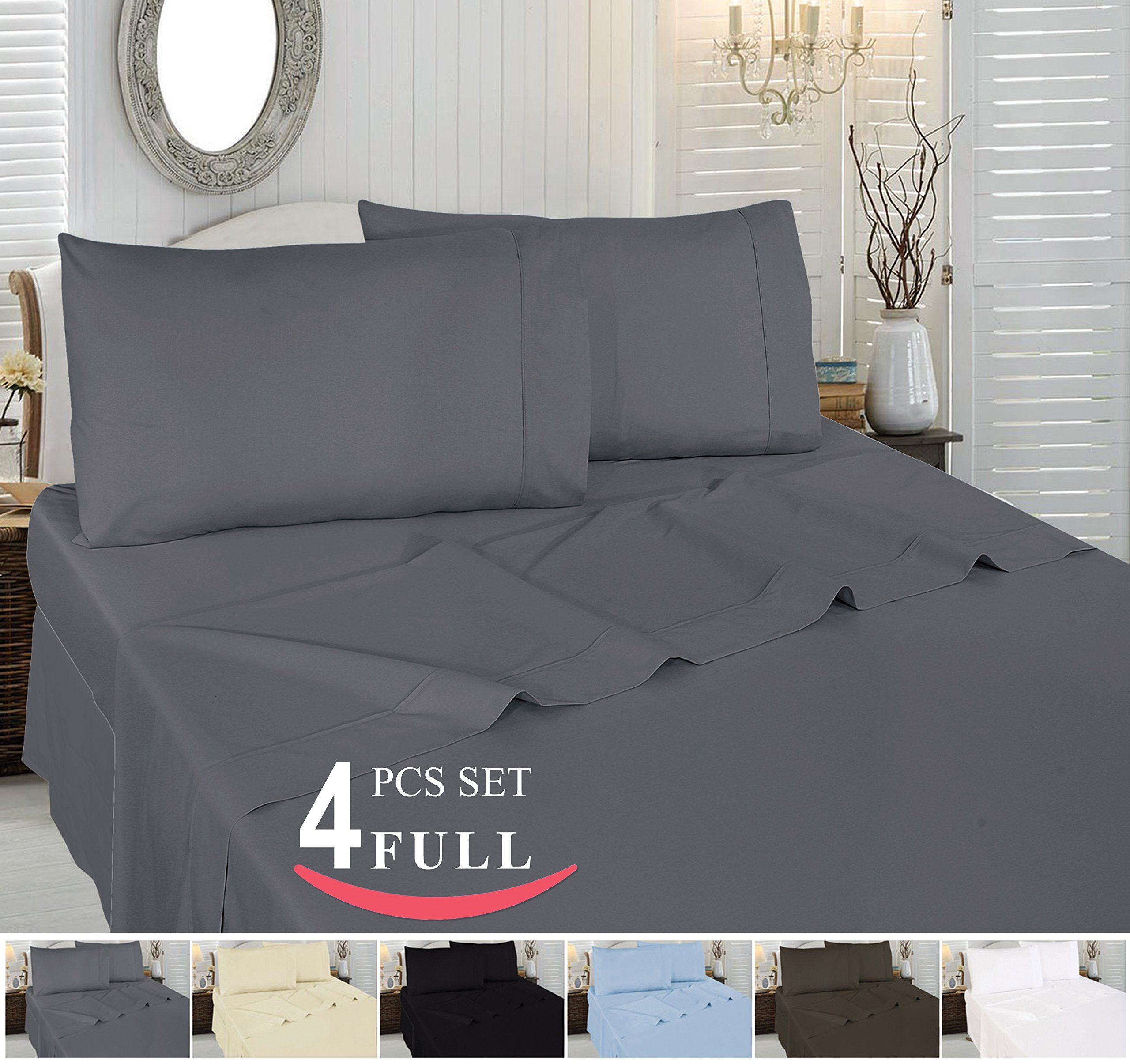 Amazon Com Utopia Bedding 4 Piece Bed Sheet Set 100 Cotton Includes Flat Sheet Fitted Sheet And 2 Pillow Cases Full Bed Sheet Sets Full Bed Sheets Bed