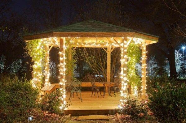 40 Ultimate Garden Lighting Ideas Gartenlaube Pavillon