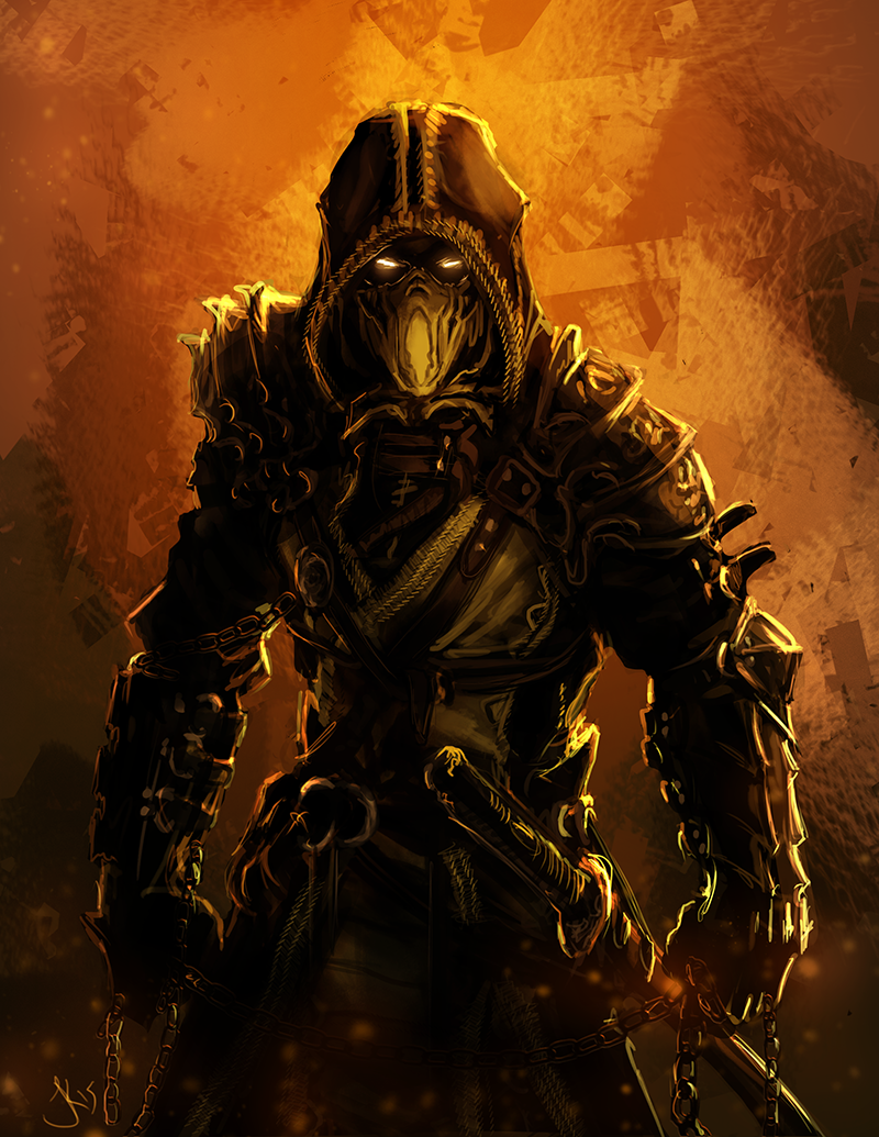 Scorpion, inspired by an evening of MK9 and a lot of ...