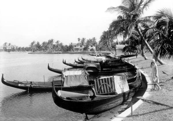 Gondolas For Hire In Miami Beach 1930 Florida Memory