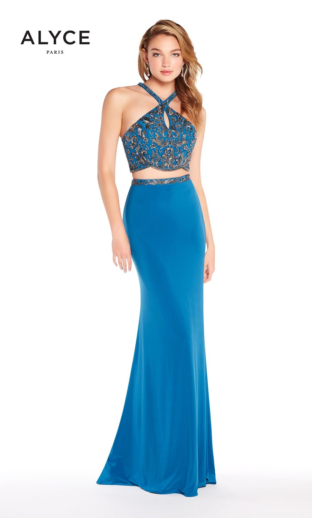 Prom Dresses Evening Dresses by ALYCE PARIS<BR>aay60018<BR>Crop top ...