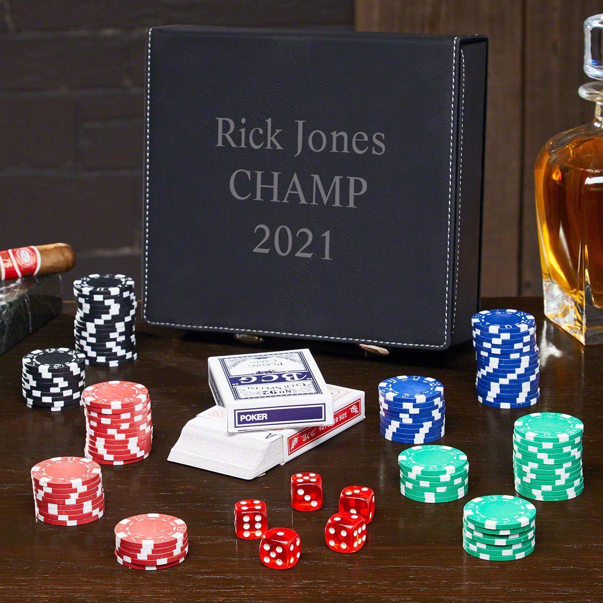 Personalized Poker Set Custom poker chips, Poker set