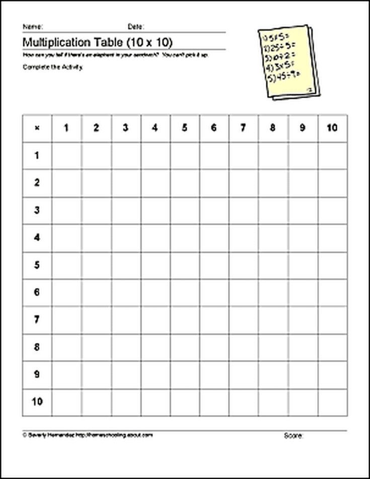 Free Math Printables to Help Students Learn Multiplication and ...