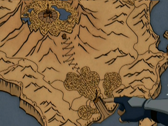 Fire Nation Map Main Island Avatar The Last Airbender