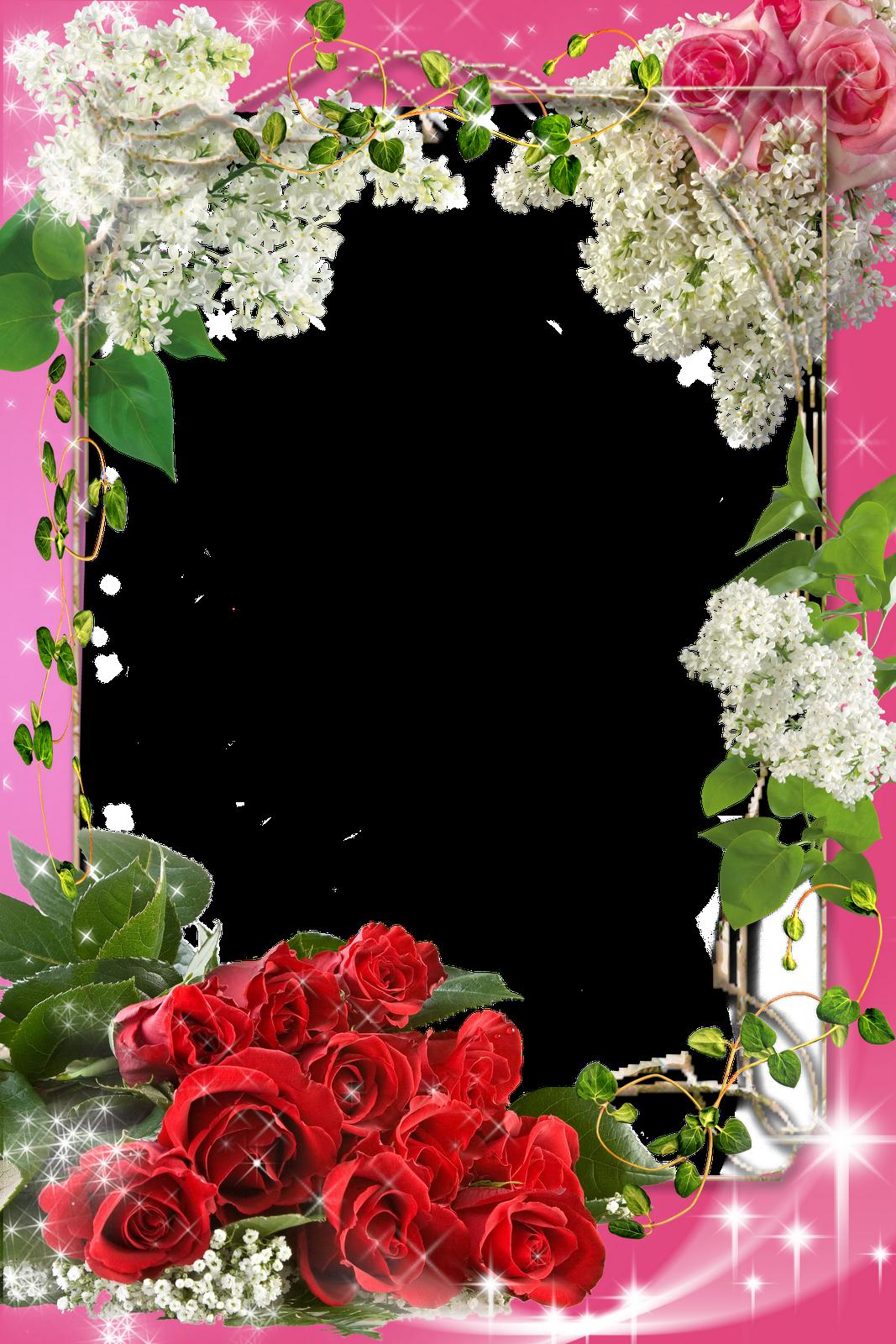 Photoshop Frame PNG | marcadores casamento flores png | frames ...
