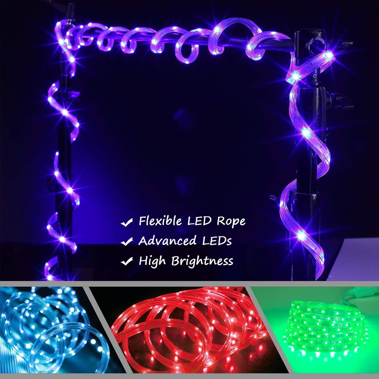 Areful Changing Flexible Connectable Waterproof In 2020 Led Rope Lights Led Rope Rope Lights