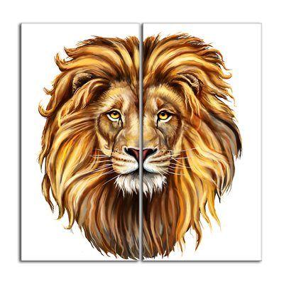 Designart Canada Canvas Art Print Pt6182 King Lion Canvas Art