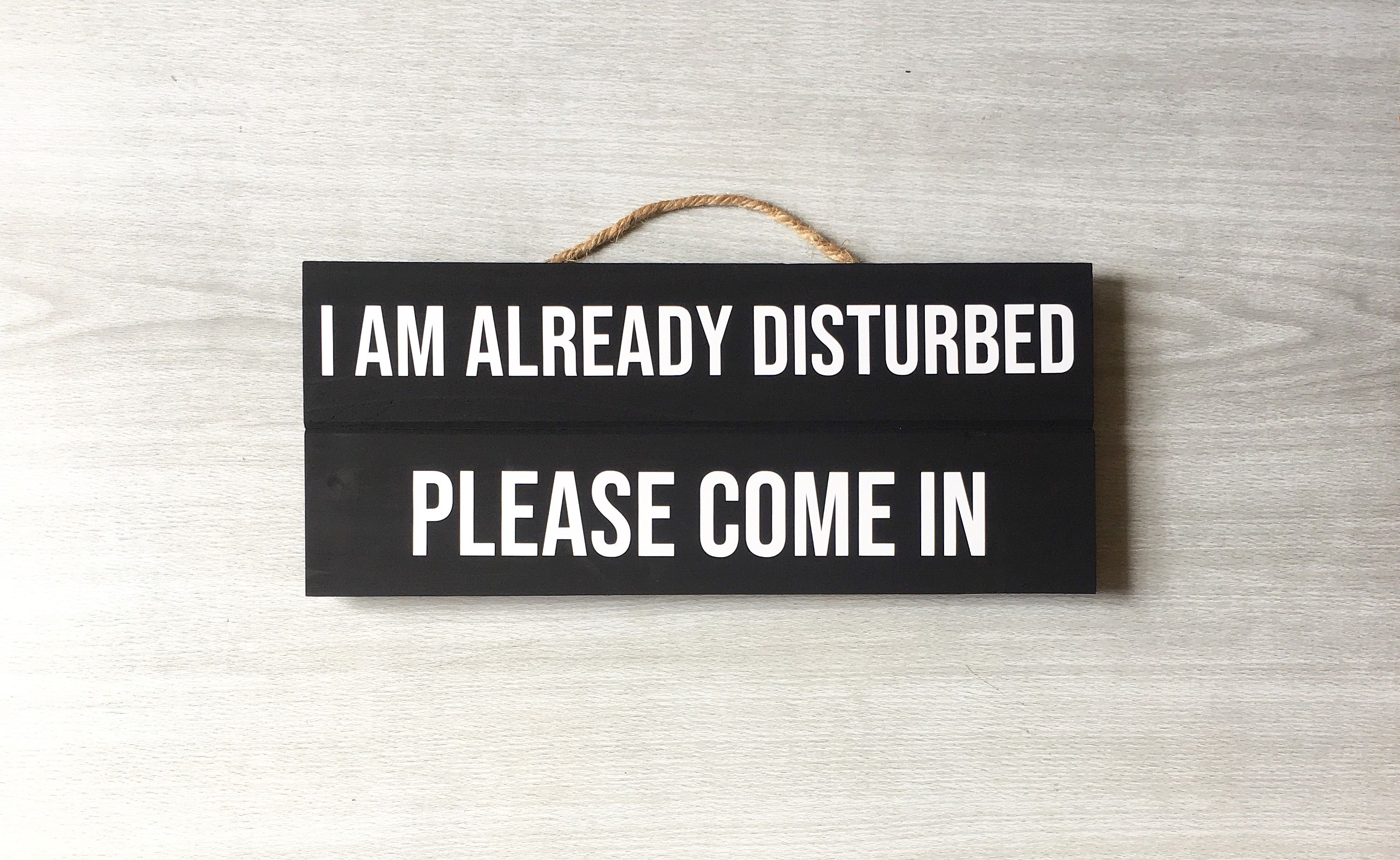 I Am Already Disturbed Please Come In Sign Funny Front Door Sign Iamalreadydisturbed Pleasecomeinsi Welcome Door Signs Funny Door Signs Funny Welcome Signs