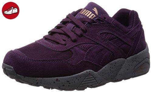 puma damen sneaker violett weiß