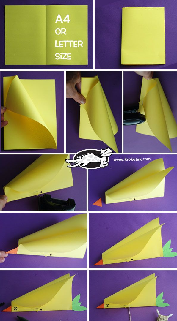 Simple Bird Kite Craft Summer Pinterest Kites Bird