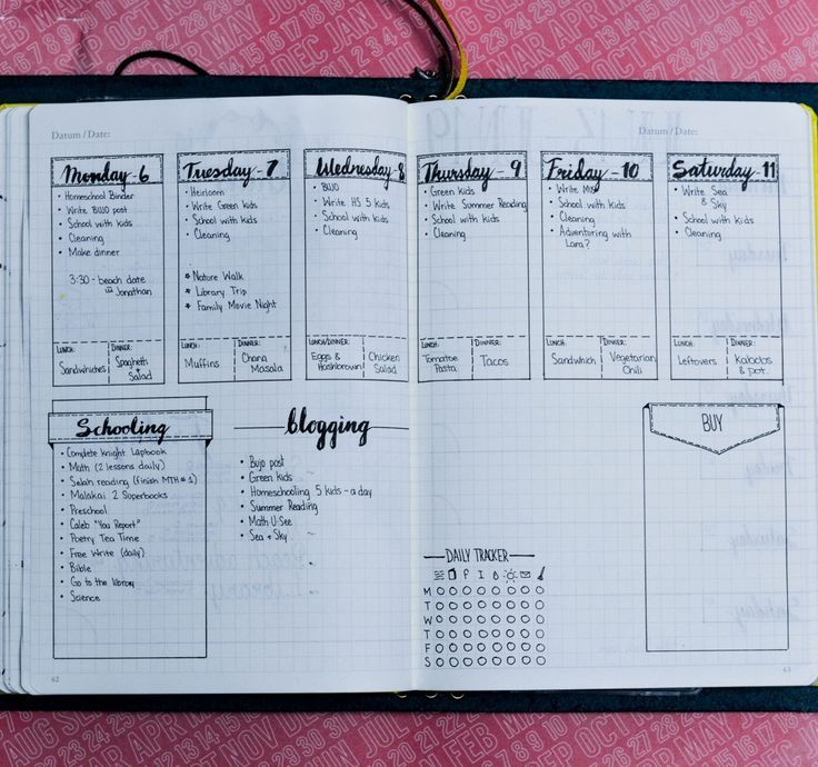 Daily, Weekly, and Monthly Bullet Journal Layout Examples ...