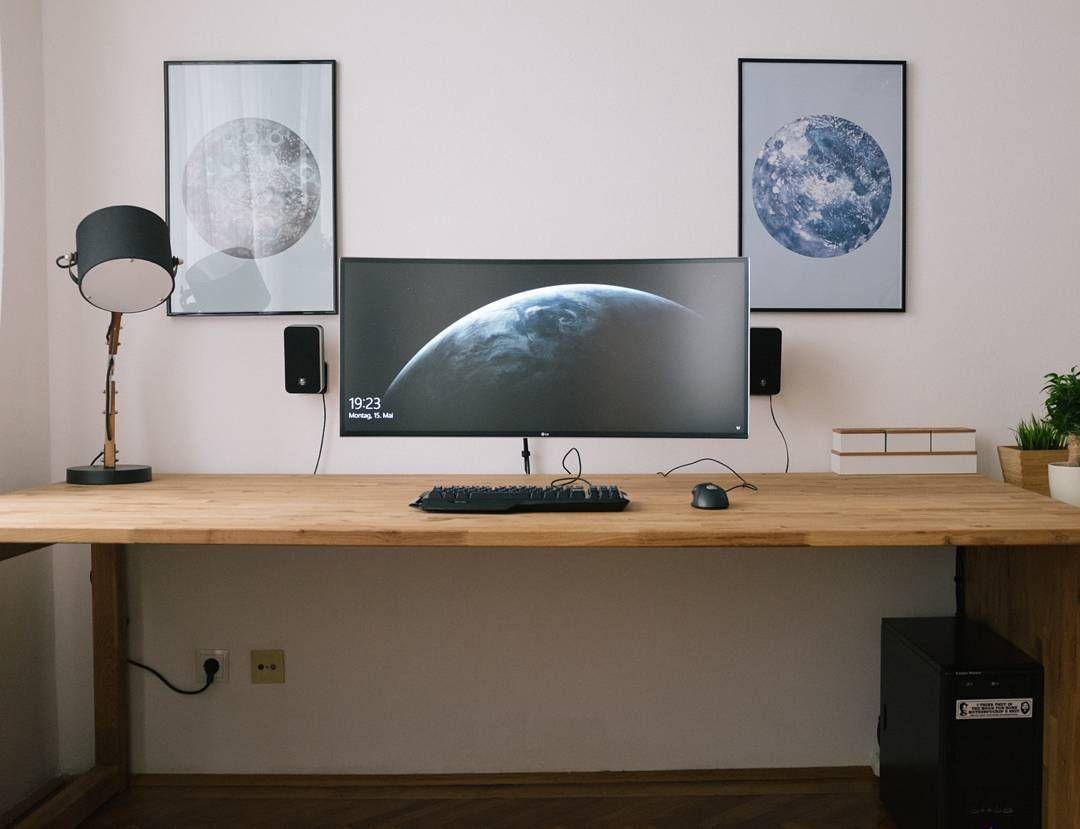 4 033 Gostos 12 Comentarios Setup Tour Setuptour No Instagram Minimalist Ultrawide Setup Home Office Design Office Desk Designs Computer Desk Design