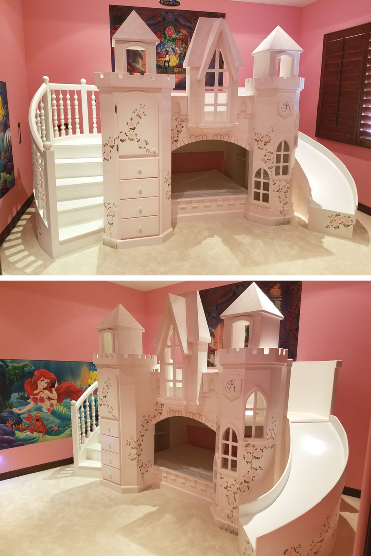 The Castle Vicari Bunk Bed Is The Ultimate Pink Princess Castle