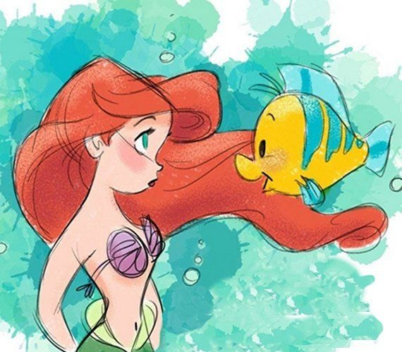 Little Mermaid, Mermaid, Ariel, Disney, Princess, Disney Cross stitch, Counted Cross Stitch Pattern,