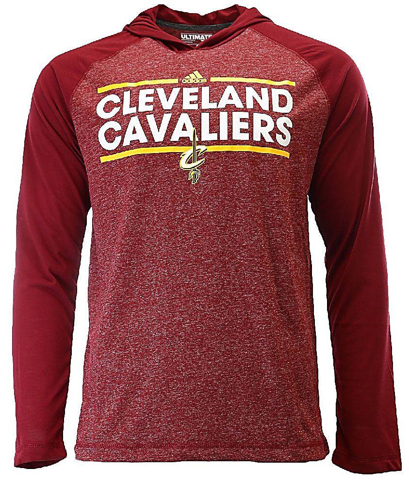 49886872fc2a Cleveland Cavaliers Tip-Off Adidas Dassler Hooded Long Sleeve T Shirt $44.95