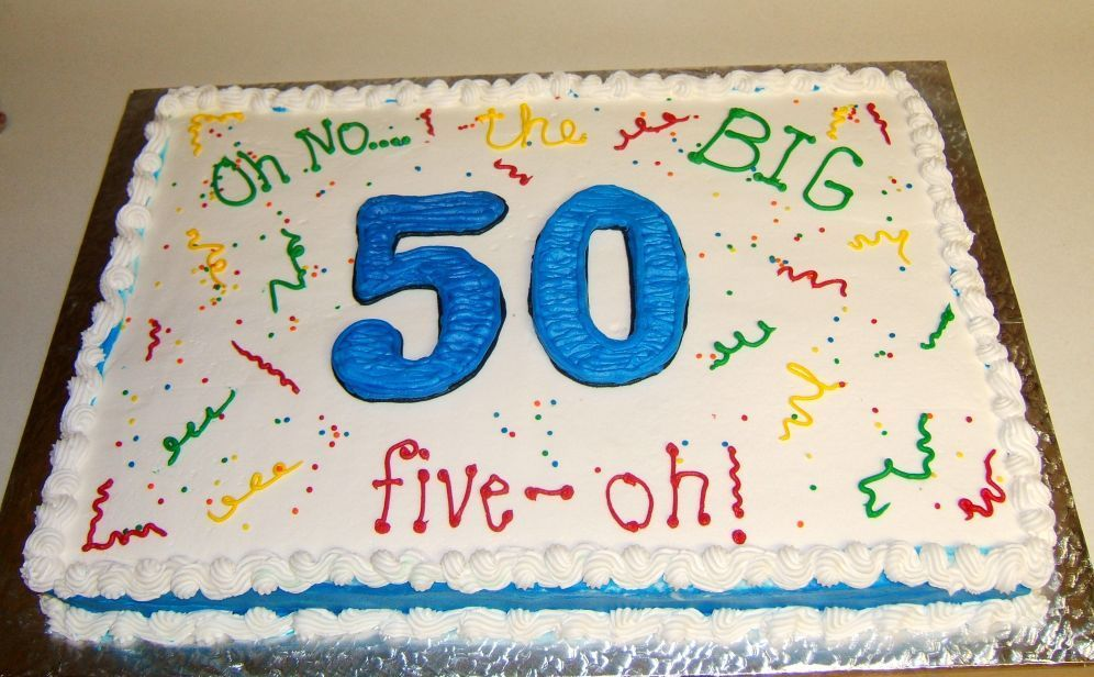 50th Birthday Cake For Man 50th Birthday Cake Full Sheet