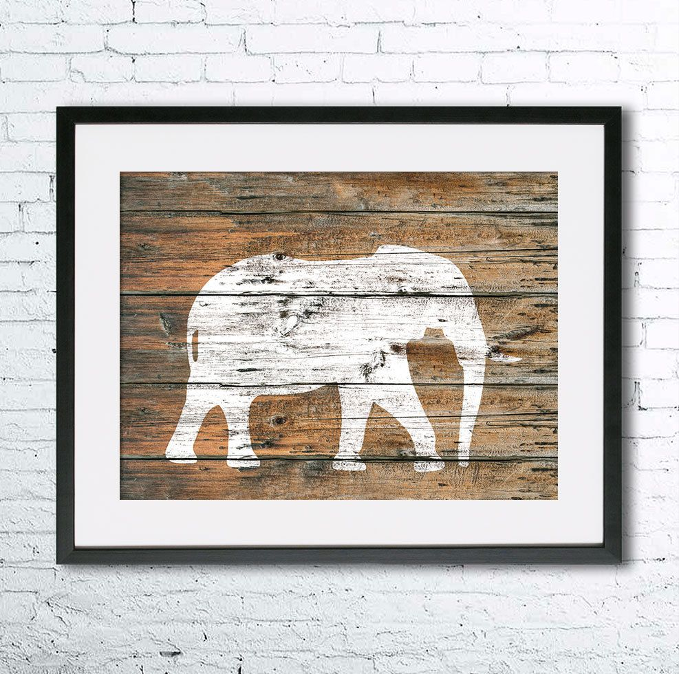 Elephant 5 art illustration print, Elephant painting, Wall art ...