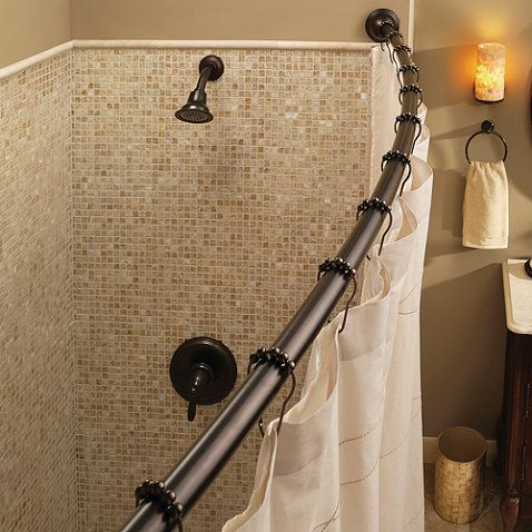 Moen Adjustable Curved Old World Bronze Shower Rod
