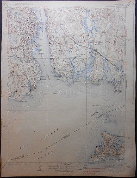 1938 Southold, Groton, New London, Great Neck, Connecticut New York ...