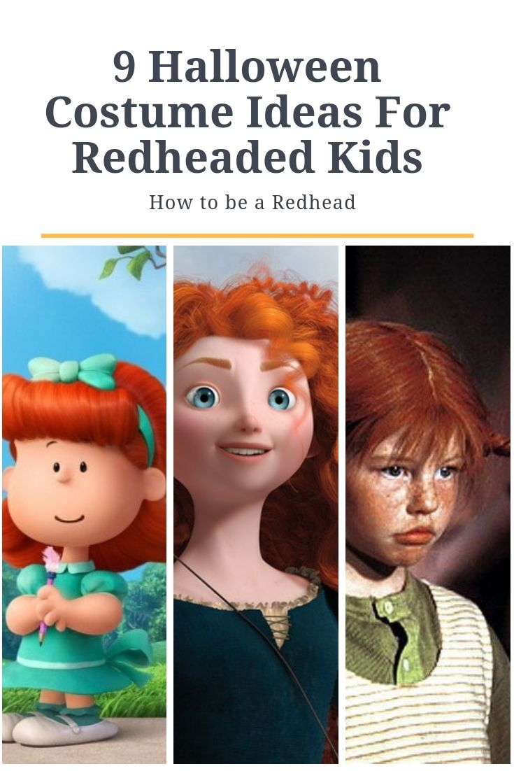 9 Halloween Costume Ideas For Redheaded Kids Redhead Costume Red Hair Halloween Costumes Halloween Costumes For Teens