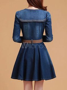 Vestido Vintage Denim azul
