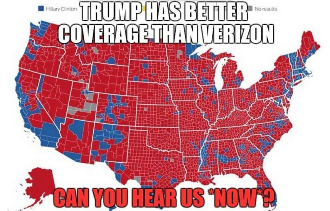 Trump has better coverage than Verizon. Can you hear us now ...