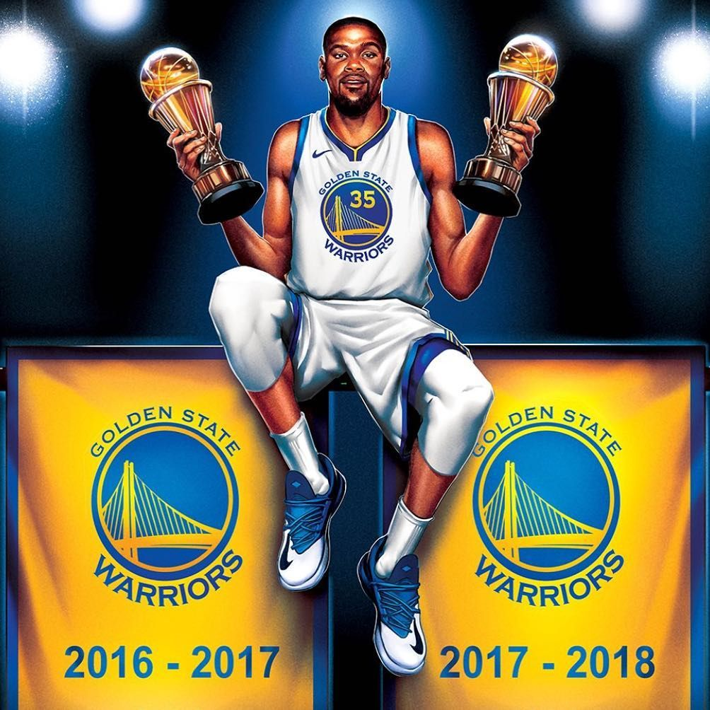 c46e3ce80915 warriors are Champions 2 rings. 2 MVPs. KD goes back-to-back ...