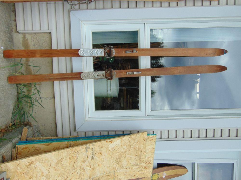 vintage/antique wooden skis   82  long chalet decor     #1150