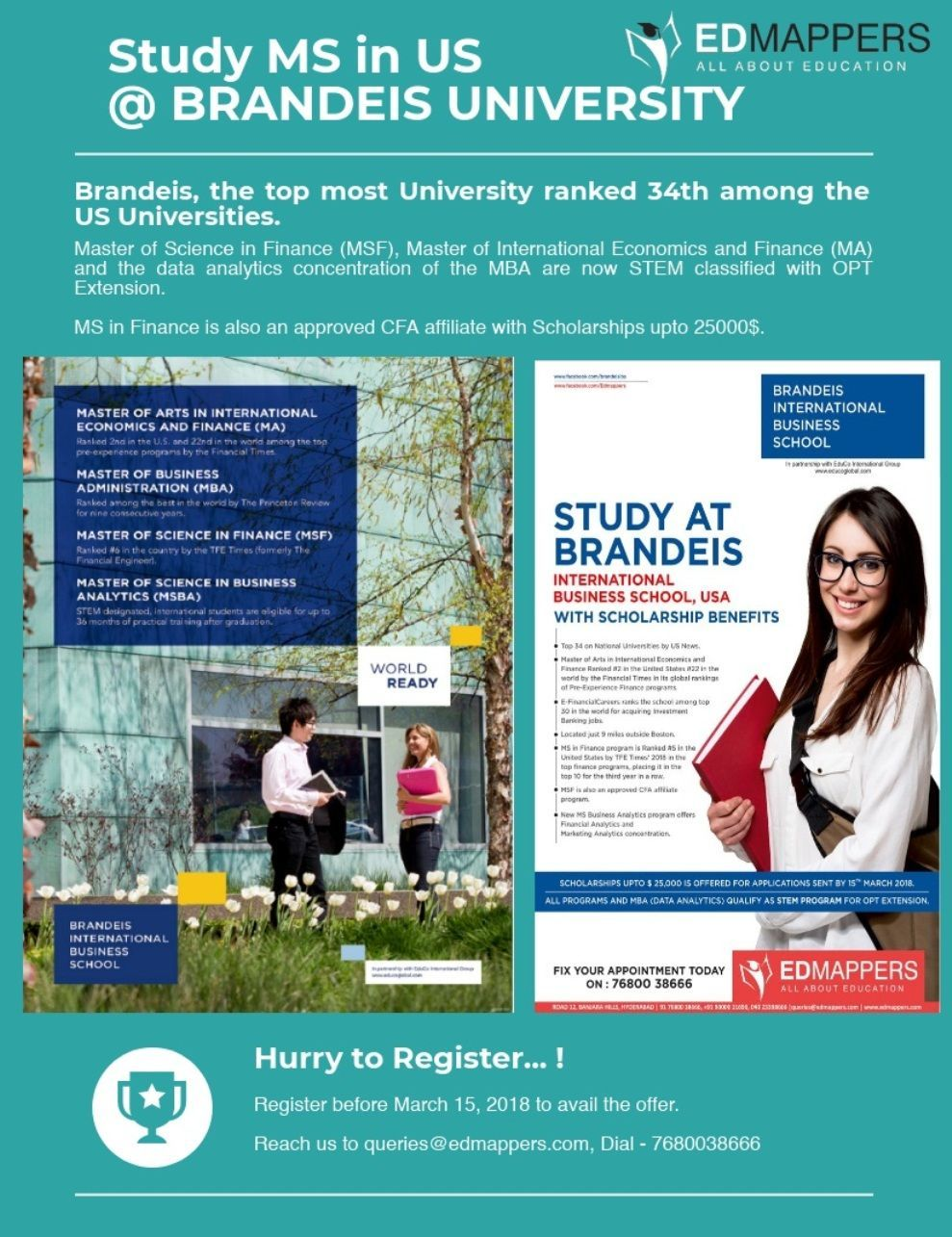 Study MS in USA at Brandeis University • Ranked 34th by US News