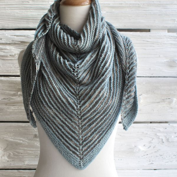 Free Triangle Shawl Knitting Pattern using Manos Serena Yarn ...