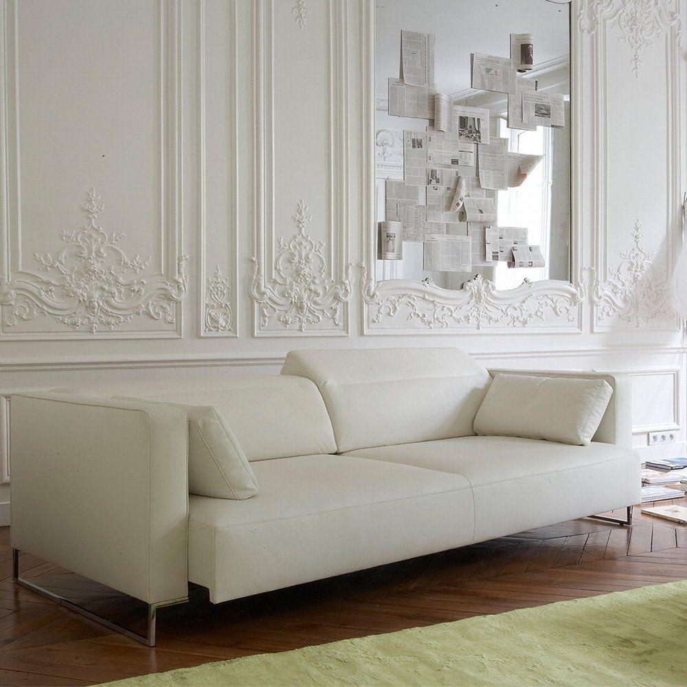 10 Canapes Blancs Design Canapes Blancs Canape Blanc Cuir Decoration Interieur Design