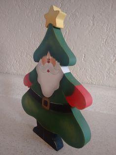 8de4b09fcdd Adorno Santa Claus pino De Mdf Navideño Pintado A Mano -   120.00 en  MercadoLibre