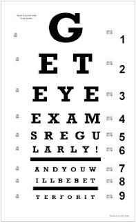 Get Eye Exams Regularly Eye Test Chart Eye Doctor Eye Chart