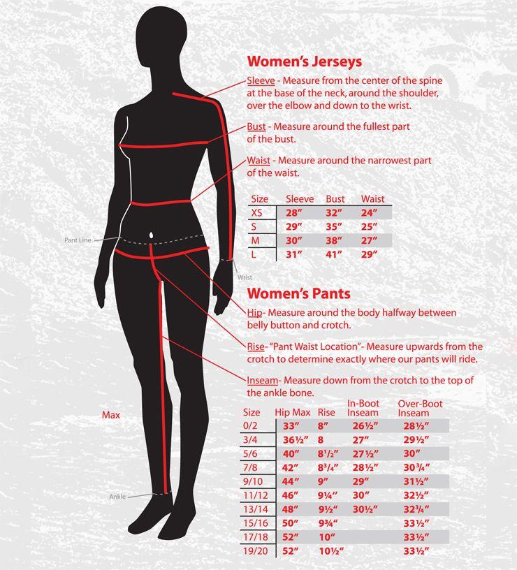 Fly Racing Size Chart Womens Dirt Bike Pants And Jerseys Dirt Bike Clothing Womens Dirt Bike Gear Dirt Bike
