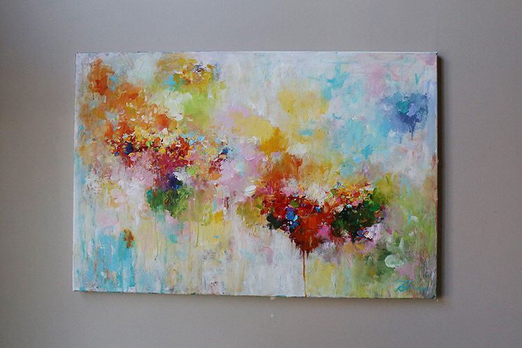 Painting On Canvas Wall Art Multi Color Colorful Painting Wall