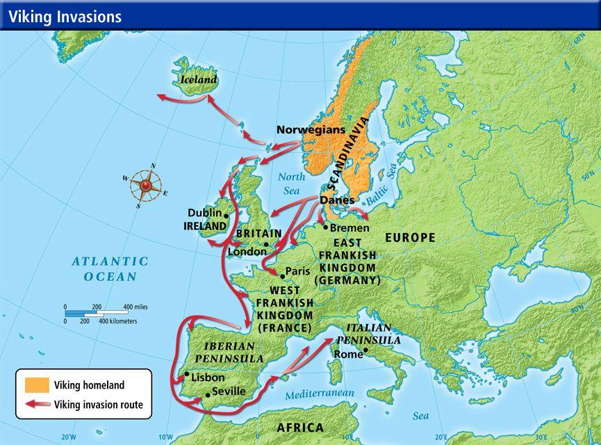 Viking Invasion Routes Viking Invasion Routes North Sea World