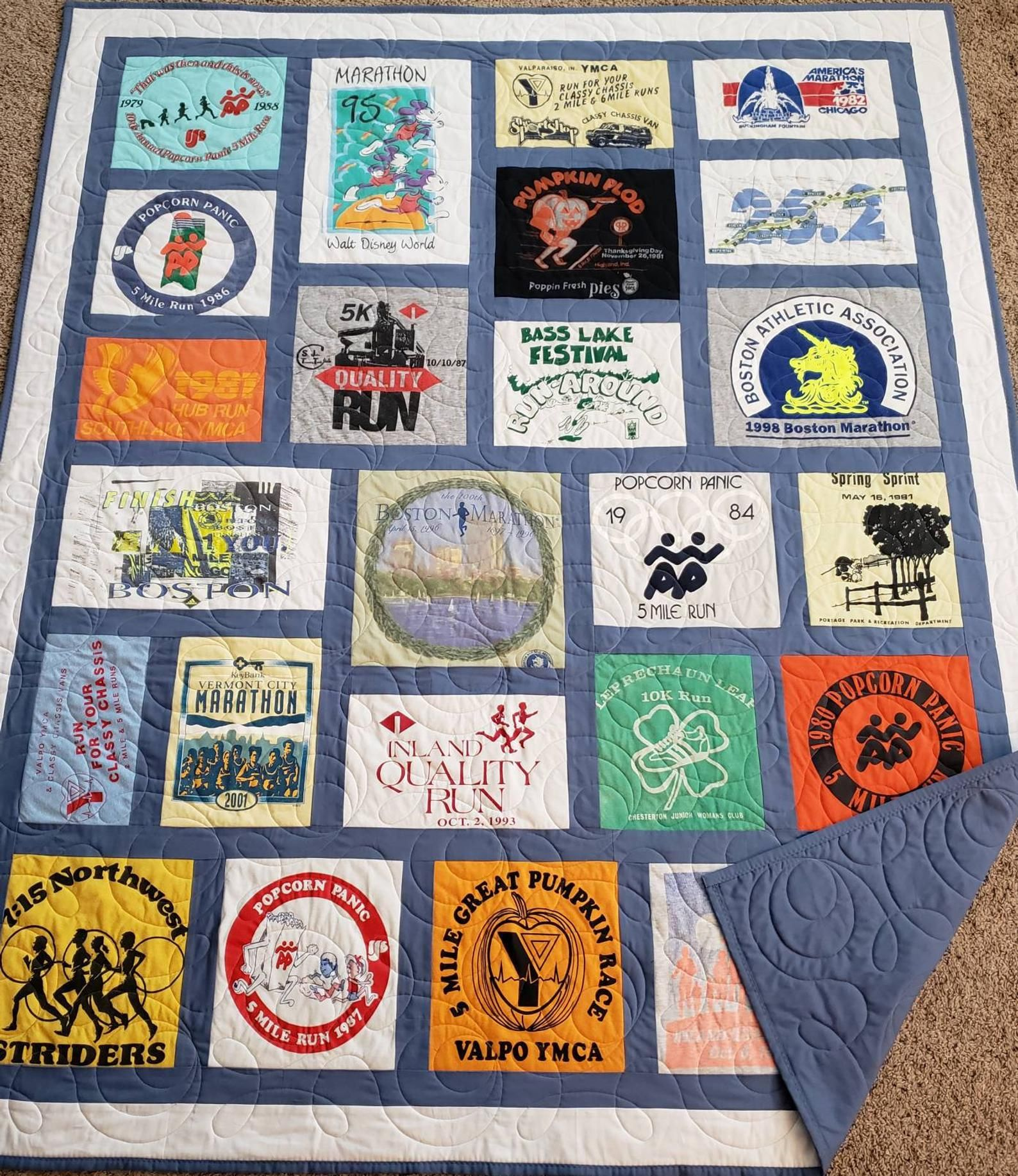 Mosaic tshirt quilt T-shirt quilt custom made Please see prices below... Different sizes available DEPOSIT ONLY