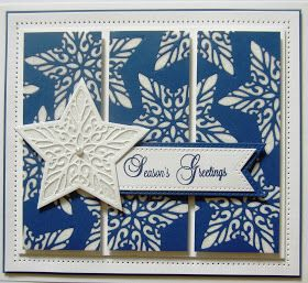 Hi bloggers!  First up is a black and white card that you may have spotted during one of my recent set of Christmas shows.  It is really ...