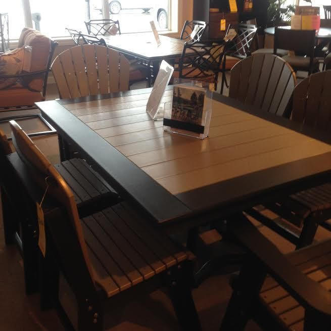 Amazing Maintenance Free Poly Furniture Table And Chairs Made In Ohio At Sheely S Liance North Lima