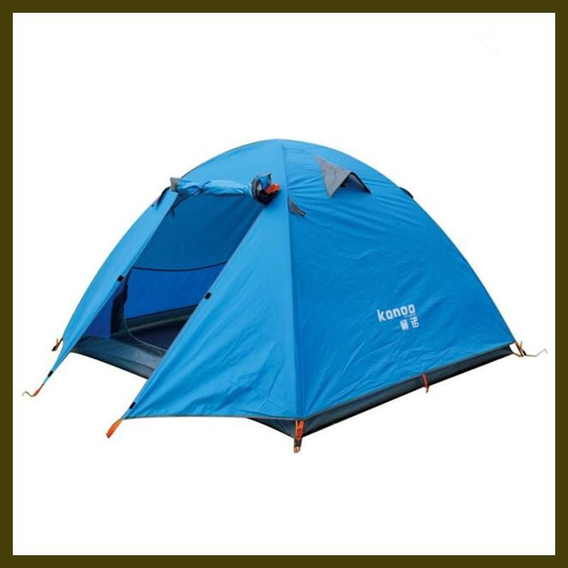 3 4 People Outdoors Camping Tent Aluminum Rod Three Colour