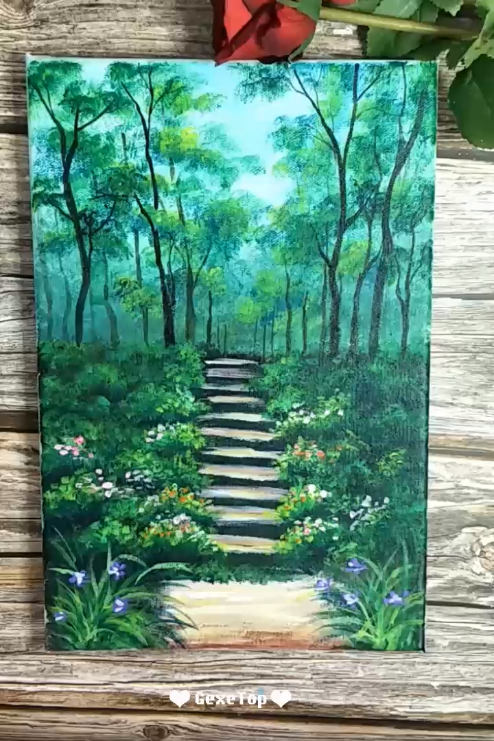 10 Awesome Acrylic Painting For Home Decor – Painting Tutorial Videos   Part 6 #forhome
